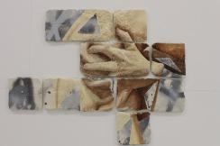 Grasp , oil and spray paint on plaster, 46cm x 59,5cm x 1,2cm