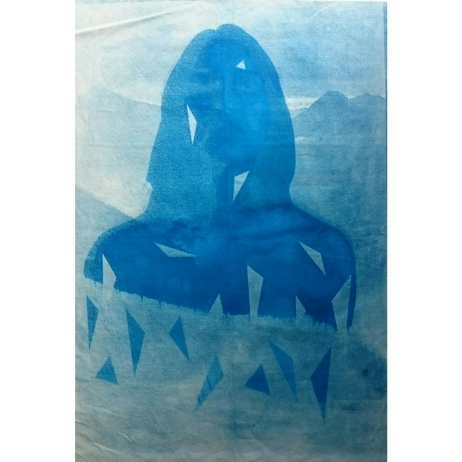 Awakening - Cyanotype and monoprint