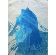 Serenity - Cyanotype and monoprint