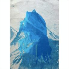 Serenity - Cyanotype and monoprint