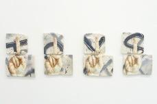 T.O.Y.S. , oil and spray paint on plaster, 79 cm x 23 cm x 1 cm