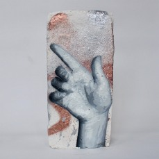Hand Studie #11, spray paint on plaster, 23 cm x 11 cm x 9 cm
