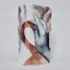 Hand Studie #9, spray paint on plaster, 23 cm x 11 cm x 9 cm