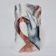 Hand Studie #9, spray paint on plaster, 23 cm x 11 cm x 9 cm