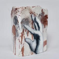 Hand Studie #12, spray paint on plaster, 15 cm x 11 cm x 9 cm